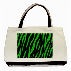 Skin3 Black Marble & Green Colored Pencil Basic Tote Bag (two Sides)