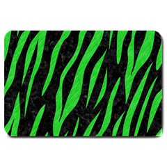 Skin3 Black Marble & Green Colored Pencil Large Doormat
