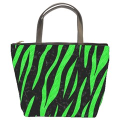Skin3 Black Marble & Green Colored Pencil Bucket Bags