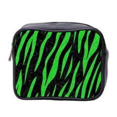 Skin3 Black Marble & Green Colored Pencil Mini Toiletries Bag 2 Side