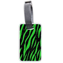 Skin3 Black Marble & Green Colored Pencil Luggage Tags (one Side)