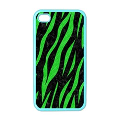 Skin3 Black Marble & Green Colored Pencil Apple Iphone 4 Case (color)