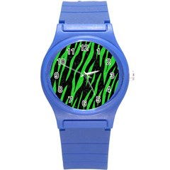 Skin3 Black Marble & Green Colored Pencil Round Plastic Sport Watch (s)