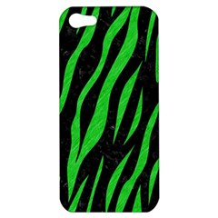 Skin3 Black Marble & Green Colored Pencil Apple Iphone 5 Hardshell Case