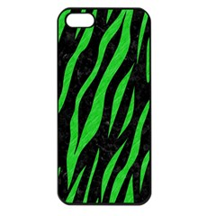 Skin3 Black Marble & Green Colored Pencil Apple Iphone 5 Seamless Case (black)