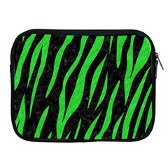 Skin3 Black Marble & Green Colored Pencil Apple Ipad 2/3/4 Zipper Cases