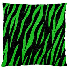 Skin3 Black Marble & Green Colored Pencil Standard Flano Cushion Case (two Sides)