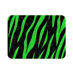 Skin3 Black Marble & Green Colored Pencil Double Sided Flano Blanket (mini)