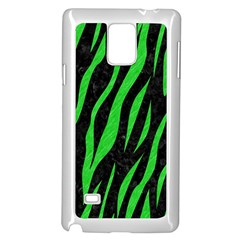 Skin3 Black Marble & Green Colored Pencil Samsung Galaxy Note 4 Case (white)