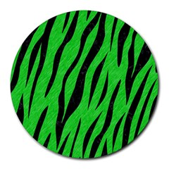 Skin3 Black Marble & Green Colored Pencil (r) Round Mousepads