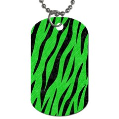 Skin3 Black Marble & Green Colored Pencil (r) Dog Tag (two Sides)