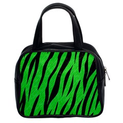 Skin3 Black Marble & Green Colored Pencil (r) Classic Handbags (2 Sides)