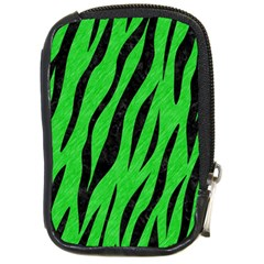 Skin3 Black Marble & Green Colored Pencil (r) Compact Camera Cases