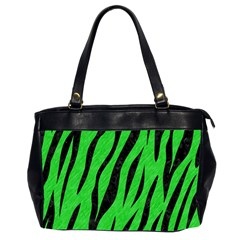 Skin3 Black Marble & Green Colored Pencil (r) Office Handbags (2 Sides)