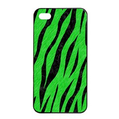Skin3 Black Marble & Green Colored Pencil (r) Apple Iphone 4/4s Seamless Case (black)