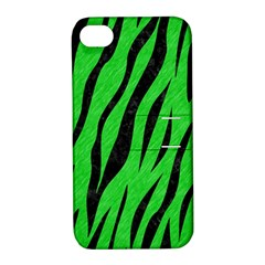 Skin3 Black Marble & Green Colored Pencil (r) Apple Iphone 4/4s Hardshell Case With Stand