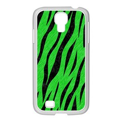 Skin3 Black Marble & Green Colored Pencil (r) Samsung Galaxy S4 I9500/ I9505 Case (white)