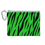 SKIN3 BLACK MARBLE & GREEN COLORED PENCIL (R) Canvas Cosmetic Bag (L) Front