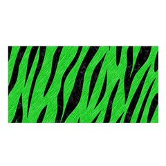 Skin3 Black Marble & Green Colored Pencil (r) Satin Shawl