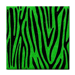 Skin4 Black Marble & Green Colored Pencil Tile Coasters