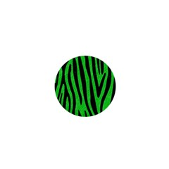 Skin4 Black Marble & Green Colored Pencil 1  Mini Buttons