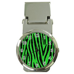 Skin4 Black Marble & Green Colored Pencil Money Clip Watches