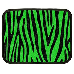 Skin4 Black Marble & Green Colored Pencil Netbook Case (large)