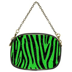 Skin4 Black Marble & Green Colored Pencil Chain Purses (one Side)