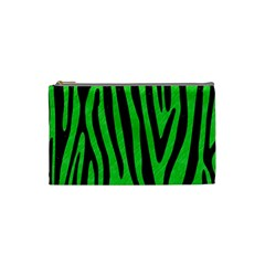 Skin4 Black Marble & Green Colored Pencil Cosmetic Bag (small)