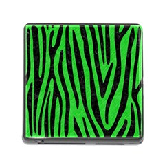 Skin4 Black Marble & Green Colored Pencil Memory Card Reader (square)