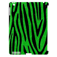 Skin4 Black Marble & Green Colored Pencil Apple Ipad 3/4 Hardshell Case (compatible With Smart Cover)