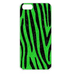 Skin4 Black Marble & Green Colored Pencil Apple Iphone 5 Seamless Case (white)