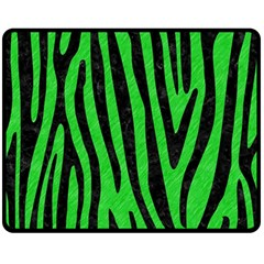 Skin4 Black Marble & Green Colored Pencil Double Sided Fleece Blanket (medium)