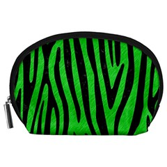 Skin4 Black Marble & Green Colored Pencil Accessory Pouches (large)