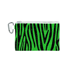 Skin4 Black Marble & Green Colored Pencil Canvas Cosmetic Bag (s)
