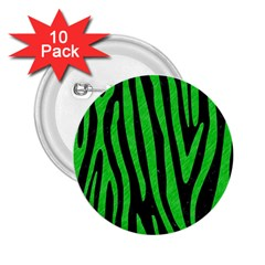 Skin4 Black Marble & Green Colored Pencil (r) 2 25  Buttons (10 Pack)