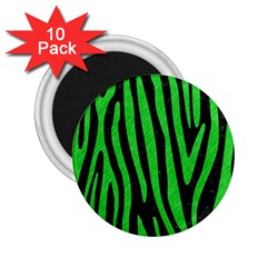 Skin4 Black Marble & Green Colored Pencil (r) 2 25  Magnets (10 Pack)