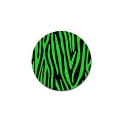 Skin4 Black Marble & Green Colored Pencil (r) Golf Ball Marker