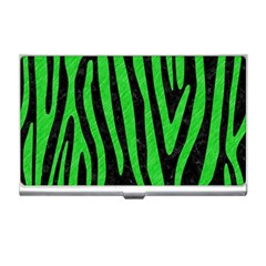 Skin4 Black Marble & Green Colored Pencil (r) Business Card Holders
