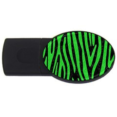 Skin4 Black Marble & Green Colored Pencil (r) Usb Flash Drive Oval (4 Gb)