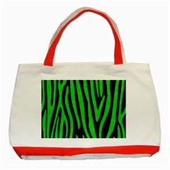 Skin4 Black Marble & Green Colored Pencil (r) Classic Tote Bag (red)
