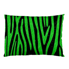 Skin4 Black Marble & Green Colored Pencil (r) Pillow Case