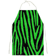 Skin4 Black Marble & Green Colored Pencil (r) Full Print Aprons