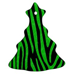 Skin4 Black Marble & Green Colored Pencil (r) Ornament (christmas Tree)