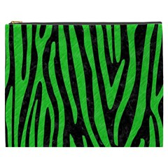 Skin4 Black Marble & Green Colored Pencil (r) Cosmetic Bag (xxxl)