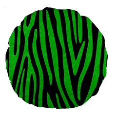 Skin4 Black Marble & Green Colored Pencil (r) Large 18  Premium Round Cushions