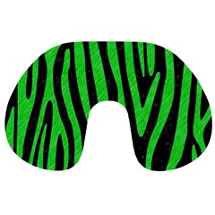 Skin4 Black Marble & Green Colored Pencil (r) Travel Neck Pillows