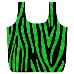 Skin4 Black Marble & Green Colored Pencil (r) Full Print Recycle Bags (l)