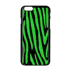 Skin4 Black Marble & Green Colored Pencil (r) Apple Iphone 6/6s Black Enamel Case