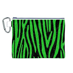 Skin4 Black Marble & Green Colored Pencil (r) Canvas Cosmetic Bag (l)